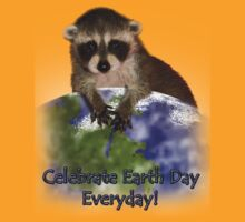 Celebrate Earth Day Everyday Raccoon by jkartlife