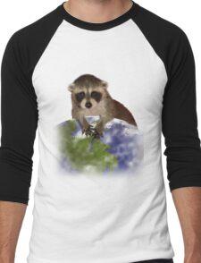 Earth Day Raccoon Men's Baseball ¾ T-Shirt