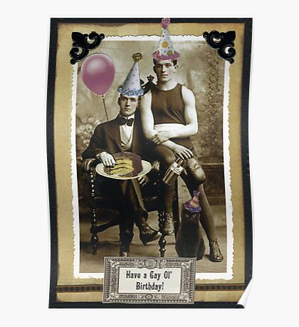 A Gay Birthday Poster
