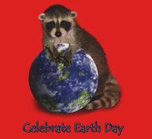 Celebrate Earth Day Raccoon One Piece - Short Sleeve