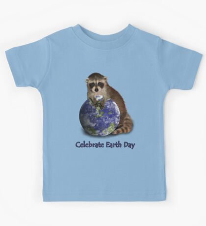 Celebrate Earth Day Raccoon Kids Tee