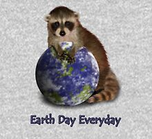 Earth Day Everyday Raccoon Hoodie