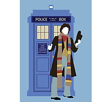 Four and the TARDIS Photographic Print