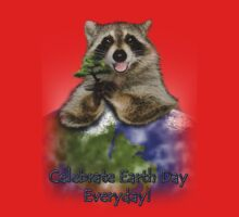 Celebrate Earth Day Everyday Raccoon One Piece - Short Sleeve