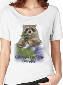 Celebrate Earth Day Everyday Raccoon Women's Relaxed Fit T-Shirt