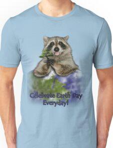 Celebrate Earth Day Everyday Raccoon Unisex T-Shirt