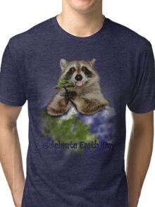 Celebrate Earth Day Raccoon Tri-blend T-Shirt