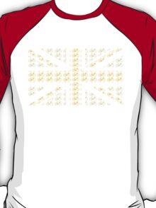 Bike Flag United Kingdom (Yellow - Small) T-Shirt