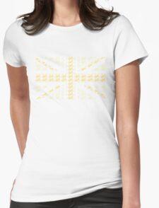 Bike Flag United Kingdom (Yellow - Small) Womens Fitted T-Shirt