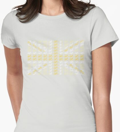 Bike Flag United Kingdom (Yellow - Small) Womens Fitted T-Shirt
