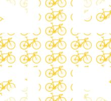 Bike Flag United Kingdom (Yellow - Small) Sticker