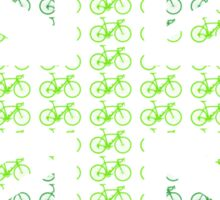 Bike Flag United Kingdom (Green - Small) Sticker