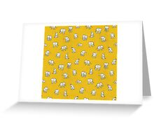 Indian Baby Elephants Yellow Greeting Card