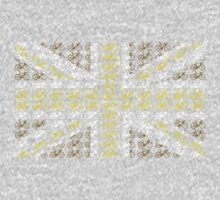 Bike Flag United Kingdom (Gold - Small) by sher00