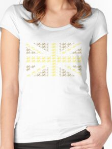Bike Flag United Kingdom (Gold - Small) Women's Fitted Scoop T-Shirt