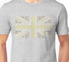 Bike Flag United Kingdom (Gold - Small) Unisex T-Shirt