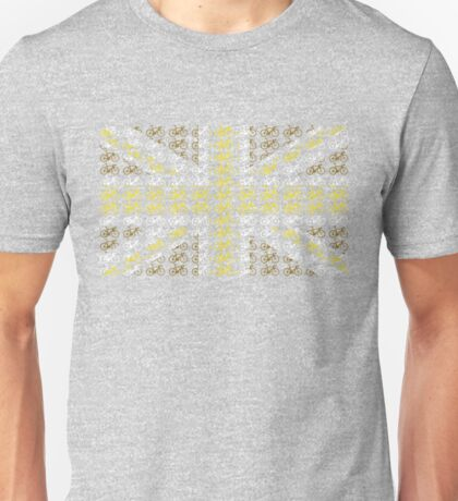 Bike Flag United Kingdom (Gold - Small) Unisex T-Shirt