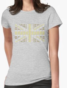 Bike Flag United Kingdom (Gold - Small) Womens Fitted T-Shirt