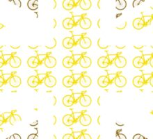 Bike Flag United Kingdom (Gold - Small) Sticker