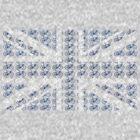 Bike Flag United Kingdom (Blue - Small) by sher00