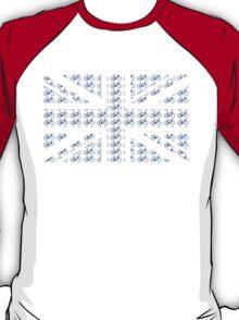Bike Flag United Kingdom (Blue - Small) T-Shirt