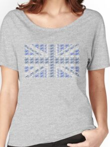 Bike Flag United Kingdom (Blue - Small) Women's Relaxed Fit T-Shirt