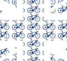 Bike Flag United Kingdom (Blue - Small) Sticker
