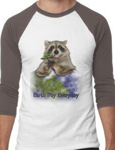 Earth Day Everyday Raccoon Men's Baseball ¾ T-Shirt