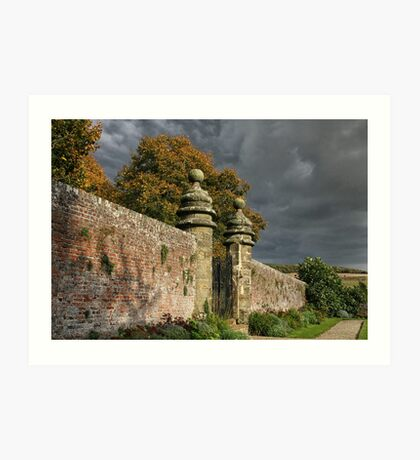 Storm clouds gather Art Print