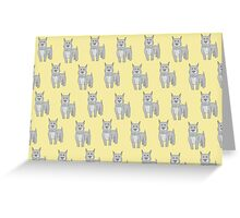 Pit Bull on Yellow Greeting Card