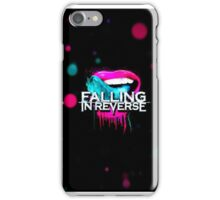 Falling in reverse, fashionably late: lips iPhone Case/Skin