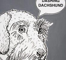 Dashing Dachshund ( Grey ) by Adam Regester