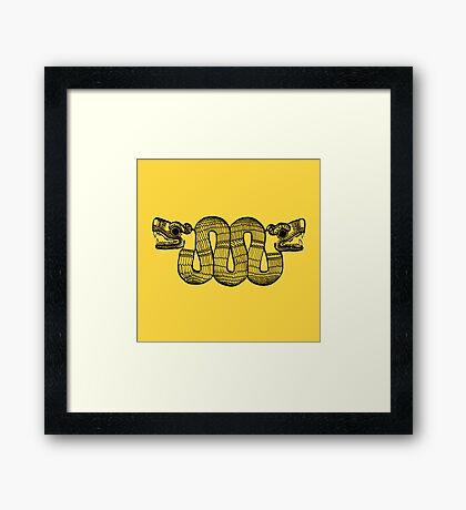 Aztec Rain Framed Print