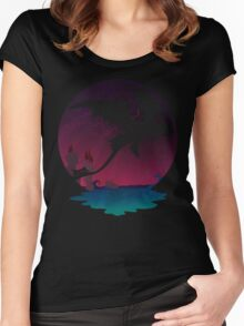 Night Flight  Women's Fitted Scoop T-Shirt