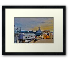South Korean Naval Base Framed Print