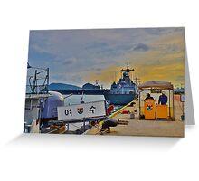 South Korean Naval Base Greeting Card