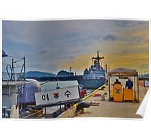 South Korean Naval Base Poster
