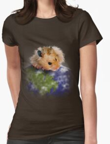 Earth Day Hamster Womens Fitted T-Shirt