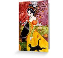 Pumpkin Queen Greeting Card