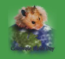 Celebrate Earth Day Hamster One Piece - Short Sleeve