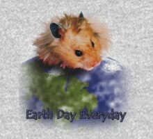 Earth Day Everyday Hamster One Piece - Long Sleeve
