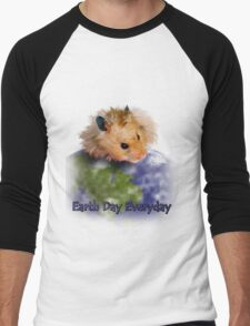 Earth Day Everyday Hamster Men's Baseball ¾ T-Shirt