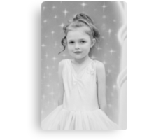 Birthday Girl ~ Portrait In Black And White Canvas Print