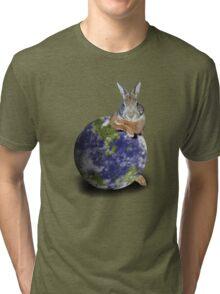 Earth Day Bunny Rabbit Tri-blend T-Shirt
