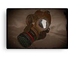Steampunk Retro Respirator Canvas Print