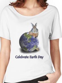 Celebrate Earth Day Bunny Women's Relaxed Fit T-Shirt
