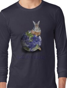 Earth Day Everyday Bunny Long Sleeve T-Shirt
