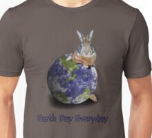 Earth Day Everyday Bunny Unisex T-Shirt