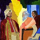 Elisha, the King and his Aide by Anne Gitto