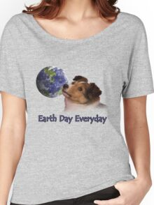 Earth Day Everyday Sheltie Puppy Women's Relaxed Fit T-Shirt